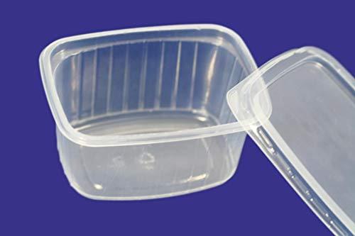 20 piezas 250 ml peque/ño redondo desechables de pl/ástico cubo de recipientes con tapa para alimentos.