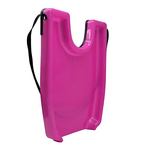 Cobeky Lavabo de champú rosa fregaderos bandeja de seguridad contorneada fácil de lavar para el tratamiento del salón herramienta de peluquería portátil para lavar el cabello