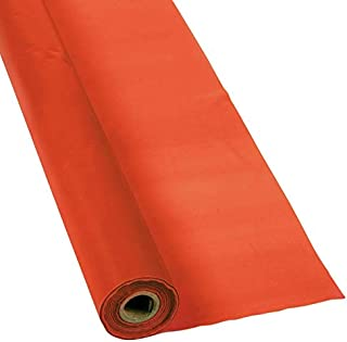 Orange Red Plastic Table Cover Roll - 40
