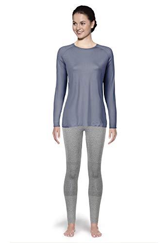 Preisvergleich Produktbild Endurance Hailey Damen Langarm-Shirt mit Daumen-Schlaufe - Funktionsshirt Basic Longsleeve für Fitness,  Sport,  Gym,  Yoga,  Workout,  Training,  Outdoor,  Wandern (Titanium Grey