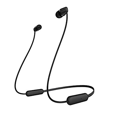 SONY WI-C200 Wireless Bluetooth Headphones with mic, up to 15h battery life - Black by Sony