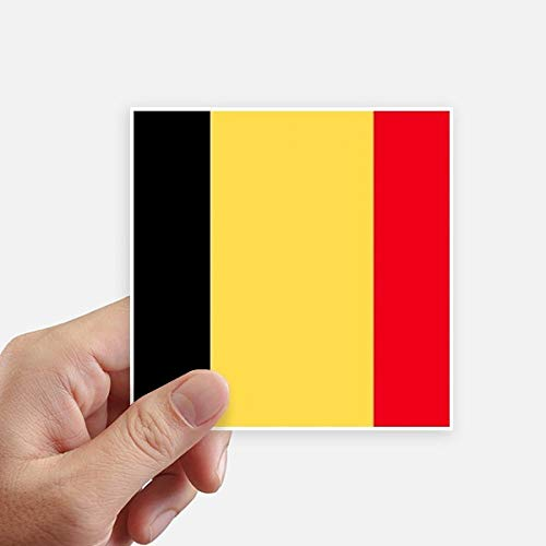 DIYthinker Drapeau National Belgique Europe Country Square Autocollants 10CM Mur Valise pour Ordinateur Portable Motobike Decal 8Pcs 10Cm X 10Cm Multicolor