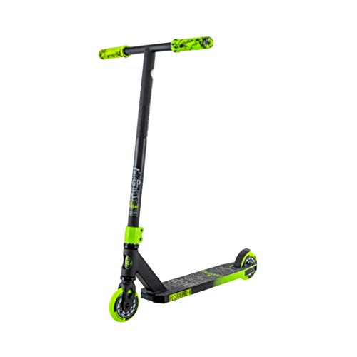 MADD Gear Carve Pro X Freestyle Stunt - Patinete, Negro y Verde