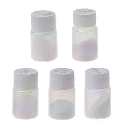 MISHITI 5 Farben Regenbogen Chamäleons Pigment Farbwechsel Pulver Epoxidharz Farbstoff Kit