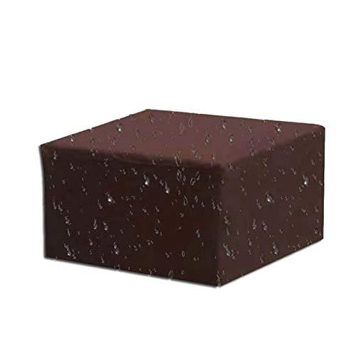 Cozomiz - Copertura impermeabile rettangolare per tavolo da pranzo e sedie, impermeabile, resistente agli strappi, resistente ai raggi UV, 238,8 x 160 x 99,1 cm, colore: Marrone