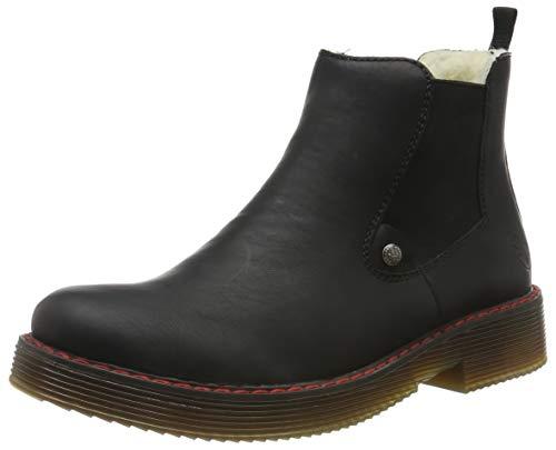 Rieker Damen 70089 Chelsea Boots, Schwarz (schwarz/schwarz 00), 41 EU
