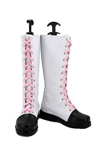 Veribuy Halloween Adult Women Cosplay Shoes Costume White Cosplay Boots