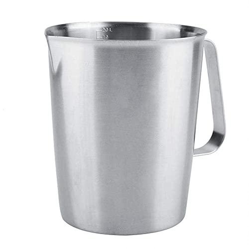 Dzbanek do spieniania mleka, z uchwytem 304 ze stali nierdzewnej Pianka do kawy Latte Art Ekspres do kawy, miarka z pianką, dzbanek na mleko (2000 ML)