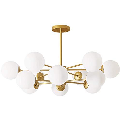 Moleculas de frijol nórdico Moleculas LED LED araña, lámpara de vidrio Sala de estar Lámpara colgante simple, creativo grande dormitorio for el hogar hotel decorativo luces-shakin 12 WULOVEMI