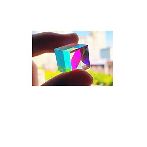 JINGERL 12.7 * 12.7 * 12.7mm PRISMO Light Prism A Ornamentos de Fotos de Siete Colores Cristal Rubik'S Cube Día de San Valentín Regalo de la Novia