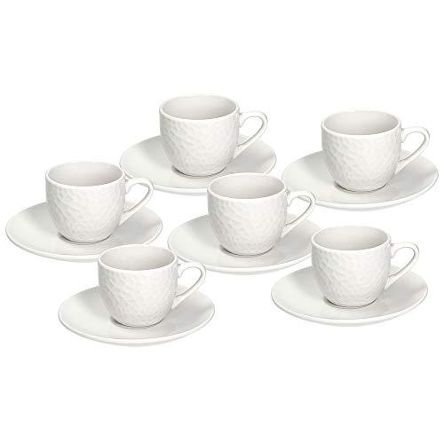 Tognana GF085010000 Set 6 Tazze caffè con Piatto cc80 Golf, Porcellana