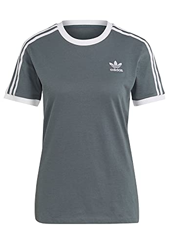 adidas Originals GN2914 - Camiseta para mujer, diseño de 3 rayas, color gris gris 38