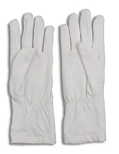 S/M WHITE Honor Guard Gloves, GUANTLET length, LINED