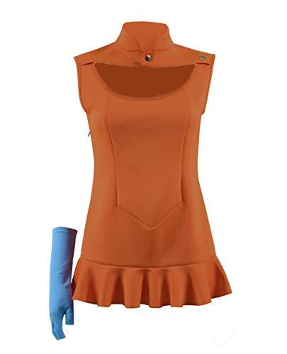 Anime Seven Sins Diane Kostüm Damen Cosplay Halloween Kleid Dress Kostüm (Orange, XXXL)