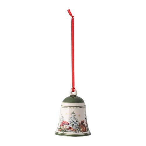 Villeroy & Boch - My Christmas Tree Glocke Eichhörnchen, stimmungsvolle Christbaumkugel aus Premium Porzellan, bunt