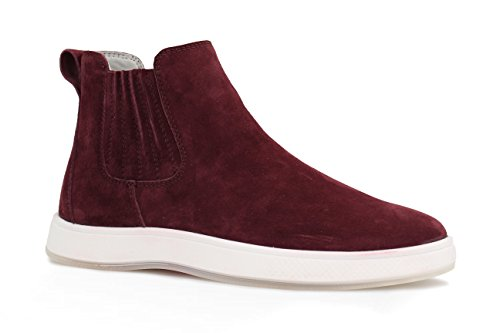 Aureus Women's Andrea Nubuck Chelsea Sneaker Boot, Burgundy, Size 10 B(M) US