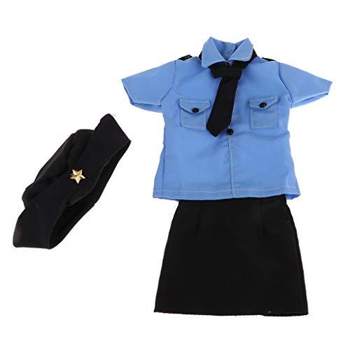 lahomia 1/3 BJD Polizistin Uniform Hemd Hemd Uniform
