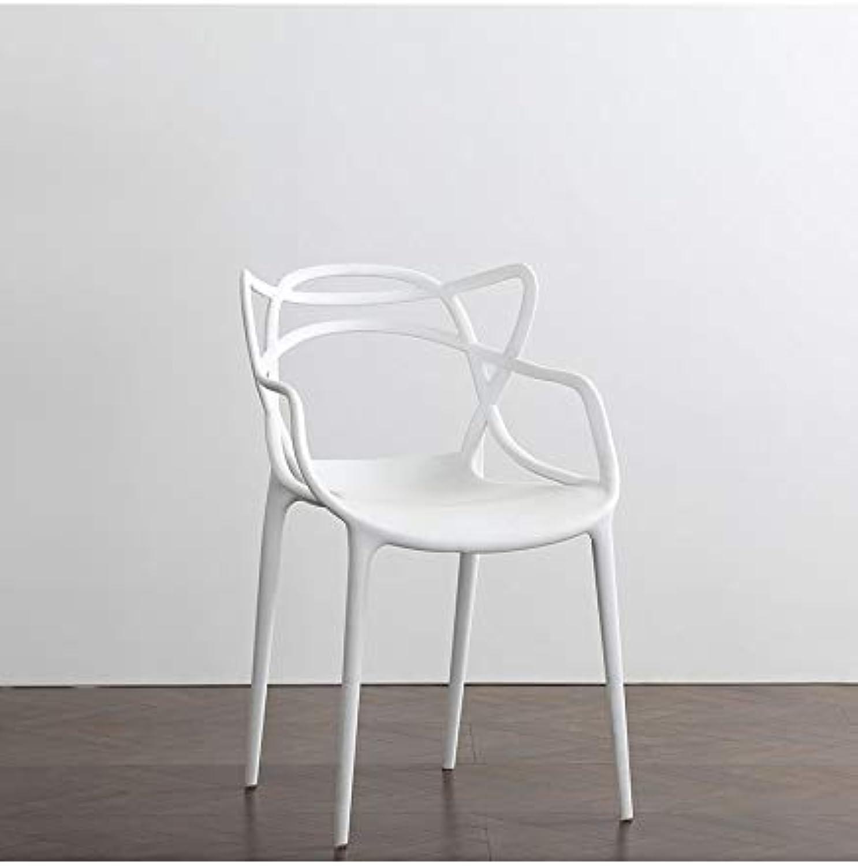 The Furniture Bureau Modern Masters Designer-Esszimmerstuhl wei