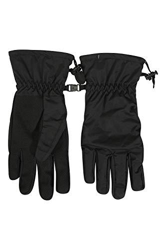 Mountain Warehouse Gants imperméables pour Hommes Classic - Paume texturée, Gants de Cyclisme, Tissu Anti-déchirure, Boucle déblocage Facile - Adapté