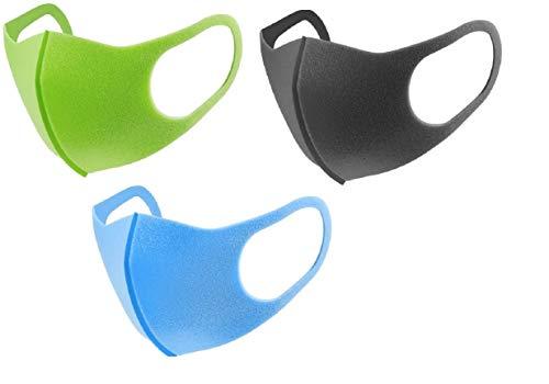 Digital Shoppy Piggy Kids Washable Facemask - Pack Of 3 (Blue,Green,Dark Grey)