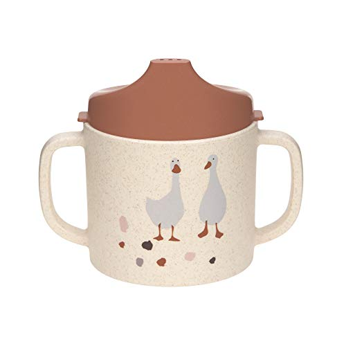 Lässig 1310066842, Bicchiere Con Manico/Sippy Cup Pp/Celllulose Tiny Farmer Sheep/Goose Nature - 72 g