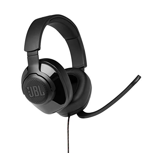 JBL Quantum 300 Wired Over-Ear Gaming Headsets with Microphone, PC and...