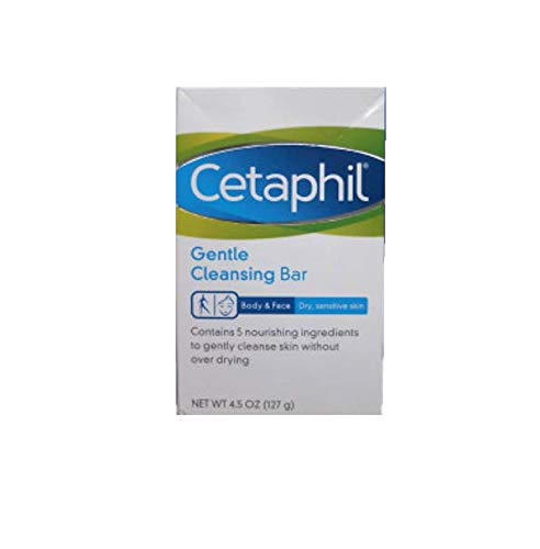 Cetaphil Gentle Cleansing Bar, Hypoallergenic, 4.5 Ounce