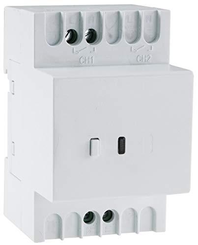 Funk Schalt Empfänger für Hutschiene I Montage im Schaltkasten I 230V / 16A I LED Funktionsanzeige I 1-fach Funk Schalter