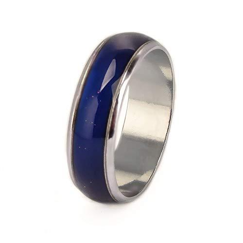 JOYID 6mm Color Changing Ring Mood Emotion Temperature Index Copper Color Change Ring for Women Men-Size 6