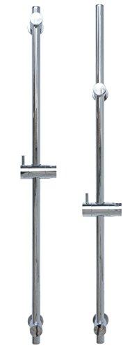 Brausestange 80cm variabel für vorhandene Bohrlöcher Brausestangenset Wandstange Chrom