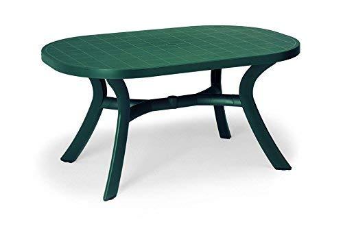 Best 18511530 Tisch Kansas oval 145 x 95 cm, grün