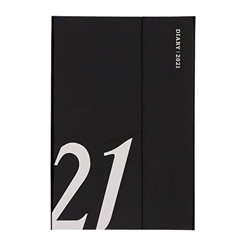 マークス手帳2021スケジュール帳ダイアリーウィークリー・レフト2020年12月始まりB6変型マグネット21ブラック21WDR-CH07-BK