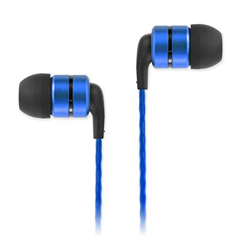 SoundMAGIC E80 In Ear Kopfhörer High Fidelity Ohrhörer Kristallklarer Klang, Smartphone Earbuds Geräuschisolierende Ohrstöpsel für Zuhause und Unterwegs,Blue