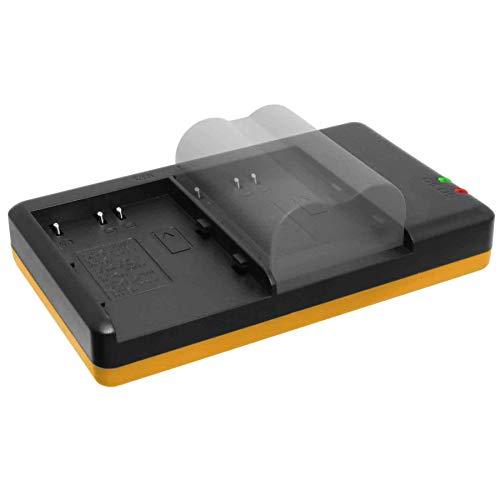 Dual-Ladegerät (Netz, USB) für Konica Minolta NP-400 / Pentax D-Li50 / Samsung SLB-1674 / Sigma BP-21 - inkl. 2A Netzteil (2 Akkus gleichzeitig ladbar)