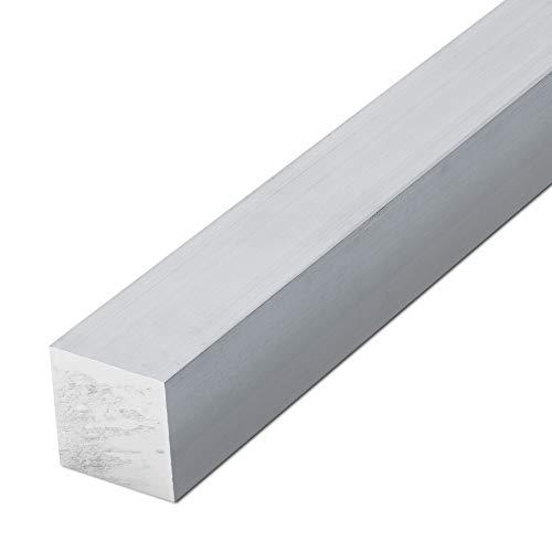 thyssenkrupp Vierkantprofil Aluminium 15 x 15 mm in 500 mm Länge | Alu Vierkant Vierkantstab | EN AW-6060