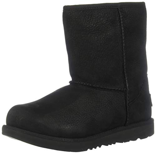UGG Kid's Female Classic Weather Short Classic Boot, Black, 2 (UK)