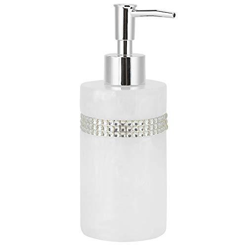Dispenser di Lozione, Bottiglia di Gel Doccia, 300ml Bianco Innovativo Innovativo Resina Sapone Lozione Bottiglia per Bottiglia per Docglio Doccia Lavaggio A Mano, Bottiglia Lozione