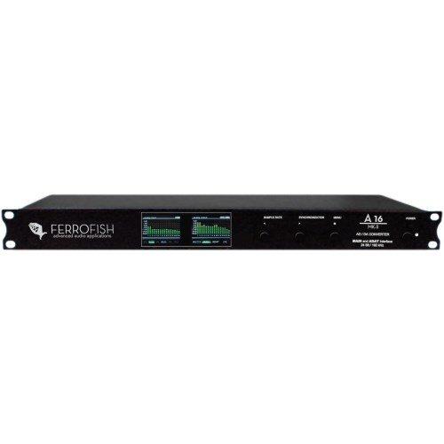 Ferrofish A 16 MK-II 24 bit / 192 kHz Channel Analog Multitrack Recorder, Royal Blue