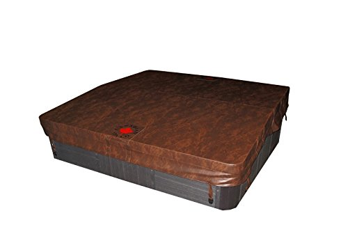 Canadian Spa Company Square B 4R Deluxe Hot Tub Spa Cover, Brown, 88 x 88-Inch