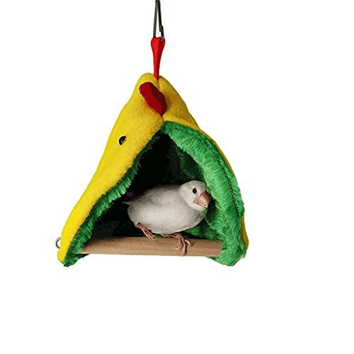 TEAYASON Soporte para Nido de Tienda de Campaña de Felpa para Pájaros, Cama para Loros de Invierno, Jaula para Periquitos para Dormir, Jaula para Pájaros, Casita para Pájaros Cálida para Pájaros Pequ