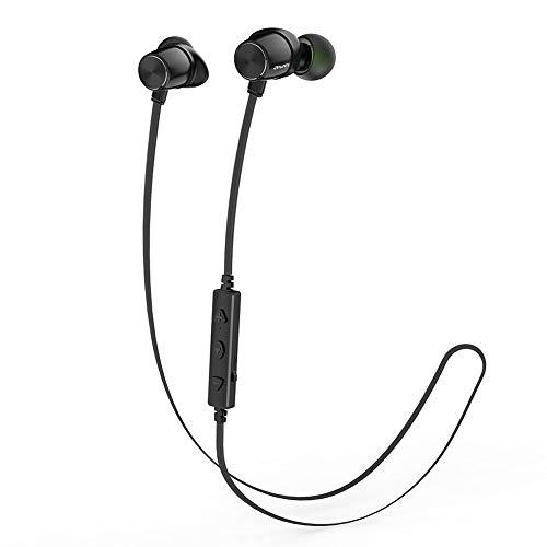 AWEI Bluetooth Auriculares Deportivos Auriculares magnéticos a Prueba de Agua montados en el Cuello con micrófono Incorporado y reducción de Ruido, Auriculares inalámbricos con Bluetooth