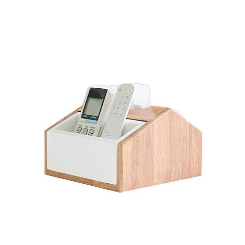 JCNFA-BOEKENPLANK Afstandsbediening/Tissue Doos, Houten Multifunctionele Opbergbox Met Lade, Living Opbergdoos (Color : B, Size : 7.87 * 7.84 * 4.72in)