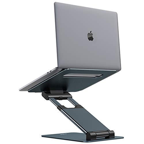 Nulaxy Laptop Stand for Desk, Ergonomic MacBook Stand and Portable Laptop Riser, Adjustable Height up to 21', Compatible with MacBook, All Laptops 10-17' - Space Grey