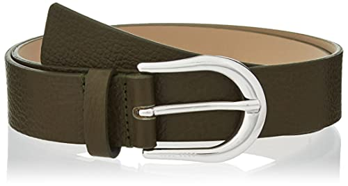 BOSS Carol Belt 3cm-G Cinturón, Dark Green303, 100 para Mujer