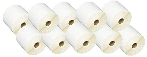 """iMBAPrice 10 Rolls of 450 Label 4x6 Direct Thermal Shipping Labels Perfect for 1"""" CORE Thermal Laser Printers"""