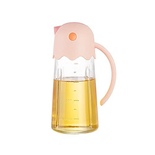 Botella De Aceite, Dispensador De Aceite De Vidrio Abatible Automático Con Tapa Automática Y Tapón Recipiente De Condimentos A Prueba De Fugas Para Cocina Rosado S