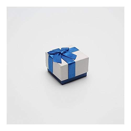 Homeilteds Azul y Blanca de la joyería Caja de Embalaje de la Cinta del Bowknot de la Caja del Regalo Cajas de presentación 1 Pieza Presents (Color : 5x5)