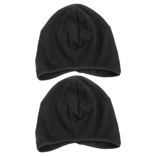 Abaodam 2Pcs térmica Running Sombreros Cubierta Orejas Cráneo Cap Casco de Ciclismo para Hombre (Negro)