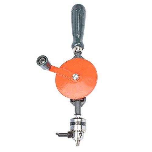 joyMerit Handbohrmaschine 3/8 '' Chuck Handwerkzeuge Doppelritzel Holzseite Manuelle Drehbohrmaschine Für 1,5 Mm 10 Mm Bohrer