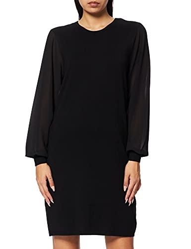 ONLY Damen ONLOFELIA L/S Dress KNT Kleid, Black, M